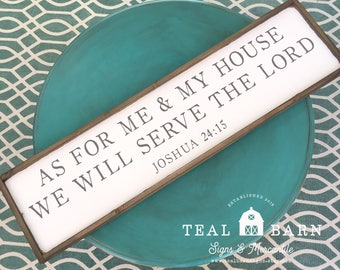As For Me and My House We Will SERVE THE LORD -- Hand Painted Wood Sign Magnolia Market Fixer Upper Farmhouse Style