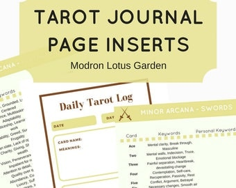 Tarot Journal Page Inserts, Bullet Journal Page Inserts, Grimoire Book of Shadows Inserts, Pagan Journal, Wiccan Journal, Instant Download