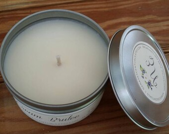 16 oz 100% Soy, Soy Candle in Tin,  Scented Soy Candle, Hand poured Soy Candle, Clean Burn, Custom Scented Soy Candles