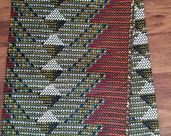 Brown African Fabric; Ankara Fabric; African Clothing; African Print Fabric; African Headwrap; Ankara Fabric in yards; African Fabric