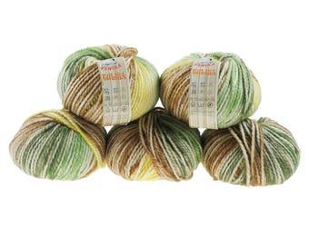 5 x 100g knitted yarn TULISA, #08 Terra