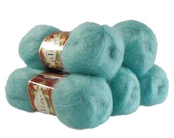 5 x 50 g knitting wool of ALIZE KID ROYAL #457 aqua