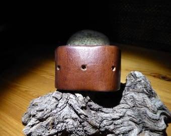 Leather bracelet/cuff