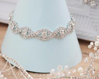 Wedding bracelet, Bridal bracelet, Crystal Bracelet, Statement bracelet, Crystal cuff bracelet