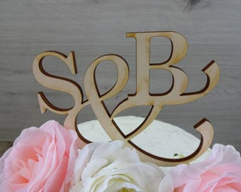 Cake topper 'Initials' - wedding, cake figure