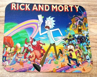 Rick and Morty Non-Slip Mouse Pad