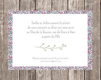 Invitation card party wedding Liberty
