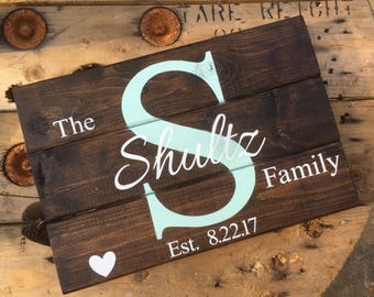 Personalized wedding sign • Personalized sign • Family Sign