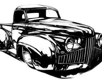 50's Studebaker Original Art