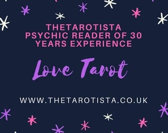 Long Distance /Internet Love Tarot Reading Same day by Psychic Reader of 30 Years Experience