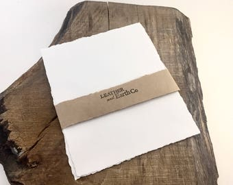 Deckled paper, Deckle paper, Deckled edge paper, Deckle edge paper, Hand torn paper, Hand torn paper with deckled edge, White deckle paper