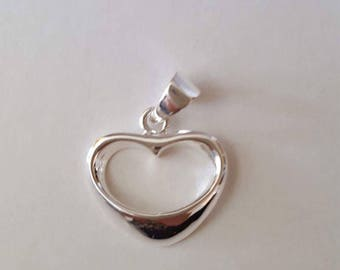 Free shipping***Sterling silver heart shaped charm