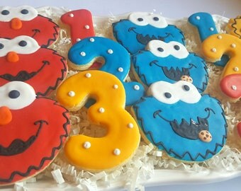 36 Sesame Street Cookies Party Favors