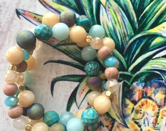 Pineapple Flare Aromatherapy ~ Essential Oil ~ Diffuser Bracelet