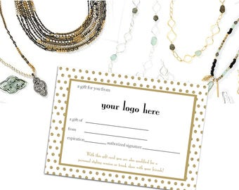 Independent Stylist Gift Certificate - Keepsake Jewelry Gift Voucher