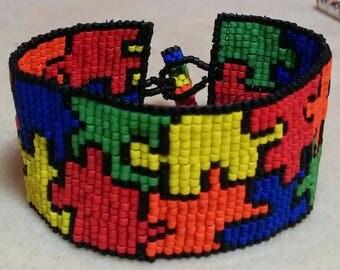 Beaded Puzzle Bracelet