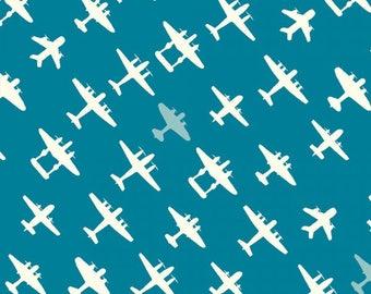 Brigade Mid Blue - Trans-Pacific by Jay-Cyn Designs from Birch Fabrics - Organic Fabric - Children Organic Fabric - Birch Fabrics - Cotton
