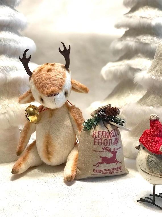 """Ooak artist christmas reindeer """"Peppercorn"""""""