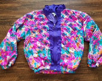 Colorful Floral Windbreaker