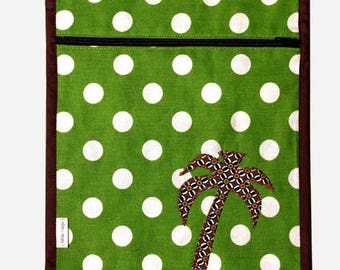 SALE printed layered polka dots and application Palm tree printed lining pocket. * 9 instead of 16th *.