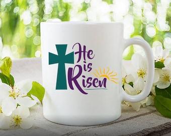 Whiskey coffee whiskey mug st patricks mug whiskey lover he is risen easter easter gift easter mug gift for pastor negle Choice Image
