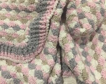 Newborn crocheted baby blanket