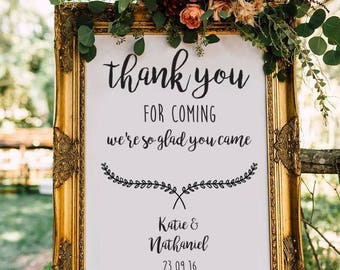 Wedding Sign - Digital file - Personalised thank you message