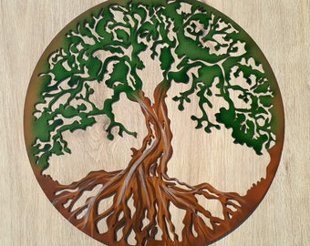 """Tree Of Life, Hand Painted, 18.5"""" (47 cm)"""