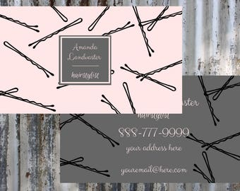 Hair Stylist/Beautician Business Card       Printable    Download   Personalized