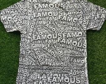 Authentic Rare Full Print Famous Starsandstraps T-Shirt