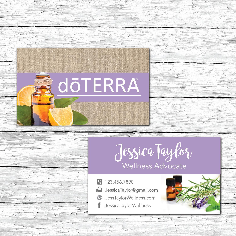 Essential Oils doterra Business Card Wellness Advocate