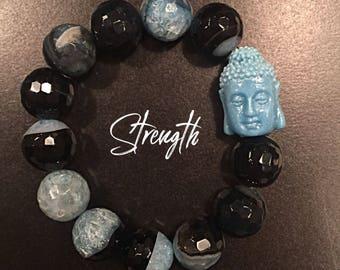 Fire Agate Healing Gemstone Bracelet
