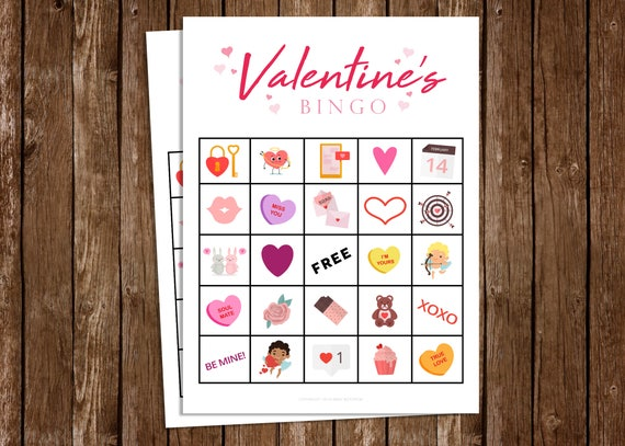 Valentine's BINGO Game - DIY Printable PDF