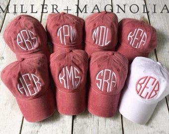 Bride & Bridesmaids Baseball Caps | Bridesmaid Gift | Monogram Ball Cap | Monogram Cap | Monogram Hat | Monogrammed Cap