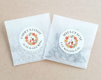 Personalised Seed Packet Favours Wreath Sunflower Daisy Weddings Bomboniere Bridal Bonbonniere x 20