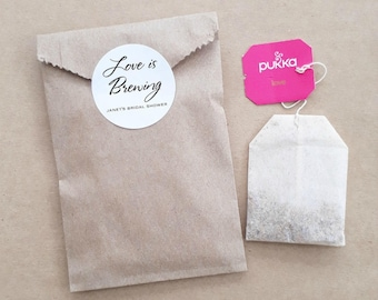 Tea Favour Bags - Personalised Favours, Custom Favours, Wedding Favours,  Baby Shower Favours, Bomboniere, Bonbonniere, Kitchen Tea x 20