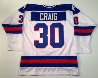Jim Craig 1980 Miracle On Ice USA Hockey White UNSIGNED CUSTOM Jersey