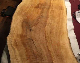"Sycamore Slab 68"" x 25"" - 22"" x 1.5"" Large Ideal for table top , Bar, Etc."