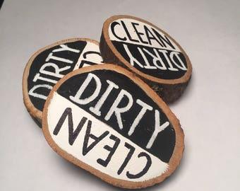 Clean Dirt Dishwasher Magnet | Clean Dirty | Kitchen Dishwasher Decor