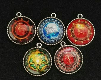 Game of Thrones Houses Keychain Pendant
