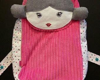 Backpack doll for children