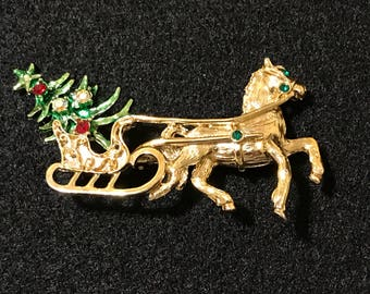 Festive Holiday Brooch