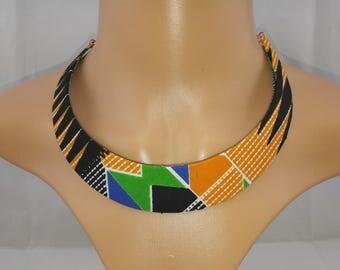 Ethnic fabric necklace