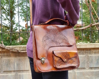 natural leather postman bag,Leather Bag,leather crossbody, leather shoulder bag,genuine leather handbag,woman handbag,man handbag,laptop bag