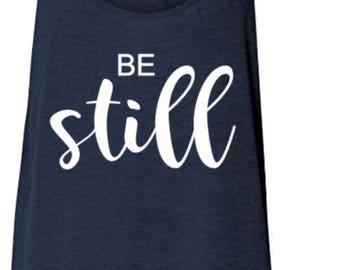 Be Still Tank (Navy blue)