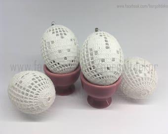 Handmade crochet eggs Easter eggs (5 pieces)