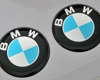 set of 4 x 55mm diameter bmw wheel center caps sticker self. Black Bedroom Furniture Sets. Home Design Ideas