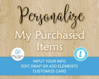 Personalize My Templett Designs After Purchase - Customize Your Instant Download from BAS