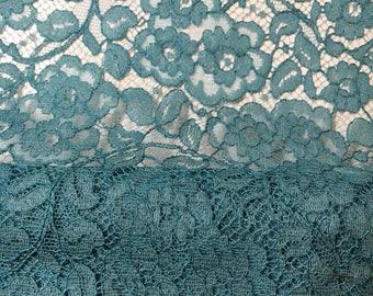 Vintage teal guipure lace