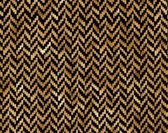 tissu patchwork beige noir chevrons TIMELESS TREASURES